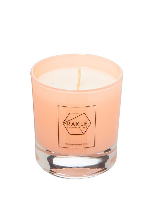 Rakle 210 gr Black Plain Vegetable Candle Pink Pembe